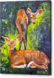 Spring Twins 1 Acrylic Print