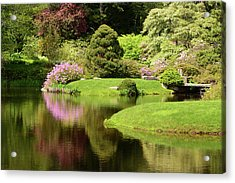 Spring View Of Azaleas In A Japanese Acrylic Print