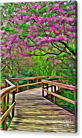 Spring Walk - Paint Rendering Acrylic Print