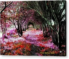Spring Walk In The Park Acrylic Print