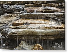 Spring Waterfall 2 Acrylic Print by Michael Waters