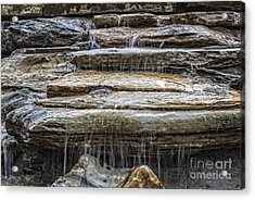 Spring Waterfall Acrylic Print by Michael Waters