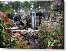 Spring Waterfall Acrylic Print by Robert Camp