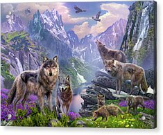 Spring Wolves Acrylic Print by Jan Patrik Krasny