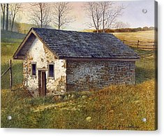 Springhouse Acrylic Print by Tom Wooldridge