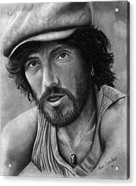 Springsteen Acrylic Print by Alan Conder