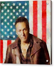 Springsteen American Icon Acrylic Print by Dan Sproul