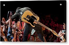 Springsteen In Charlotte Acrylic Print by Jeff Ross