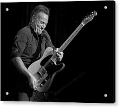 Springsteen Shreds Bw Acrylic Print