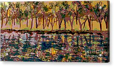 Springtime Along The Muddy River Acrylic Print by Rita Brown