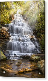 Springtime At Benton Falls Acrylic Print by Debra and Dave Vanderlaan