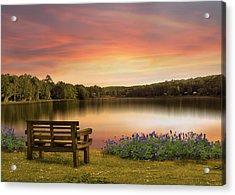 Springtime At The Lake Acrylic Print