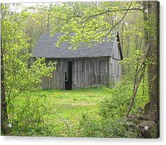Springtime In New England Acrylic Print by Marjorie Tietjen