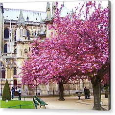 Springtime In Paris Acrylic Print