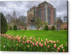Springtime In The Public Garden - Boston Acrylic Print by Joann Vitali