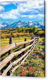 Springtime In The Rockies Acrylic Print