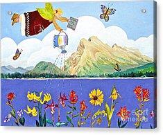 Springtime In The Rockies Acrylic Print by Virginia Ann Hemingson
