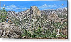 Springtime In Yosemite Valley Acrylic Print