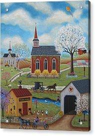 Springtime Acrylic Print by Mary Charles