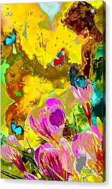 Springtime Splash Acrylic Print by Mayhem Mediums