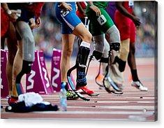 Sprinters At Start Of Paralympics 100m Acrylic Print
