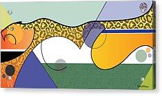 Sprinting Jaguar Acrylic Print