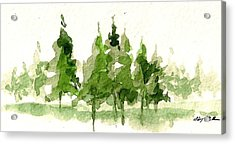 Acrylic Print featuring the mixed media Spruce Grove by Tim Oliver