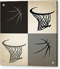 Spurs Ball And Hoop Acrylic Print by Joe Hamilton