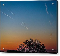 Squadron Of Jet Trails Over Ireland Acrylic Print