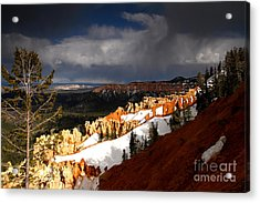Squall Over The South Rim Acrylic Print by Butch Lombardi