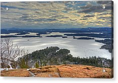 Squam Lake In February Acrylic Print