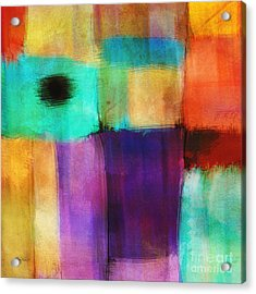 Square Abstract Study Three  Acrylic Print by Ann Powell