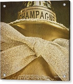 Square Gold Vintage Champagne Ornament Acrylic Print by Birgit Tyrrell