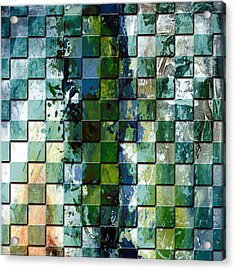Square Mania - Abstract 01 Acrylic Print by Emerico Imre Toth