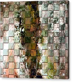 Square Mania - Abstract 09 Acrylic Print by Emerico Imre Toth