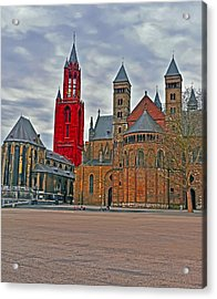 Square Of Maastricht Acrylic Print