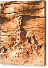 Square Tower House Mesa Verde Acrylic Print by Carl Bandy