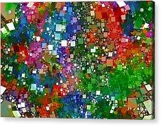 Square Universe 2 Acrylic Print by Steve K