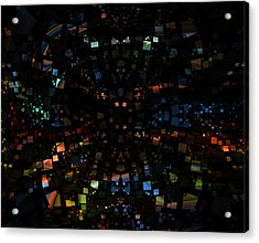 Square Universe 3 Acrylic Print by Steve K