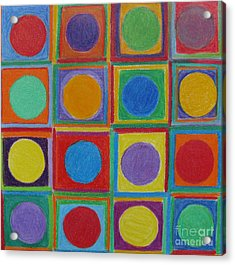 Acrylic Print featuring the drawing Squares And Circles by Patricia Januszkiewicz