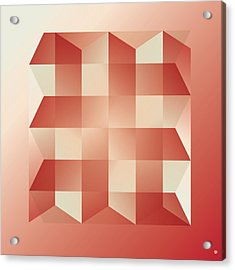 Squares And Columns Acrylic Print by Gary Grayson