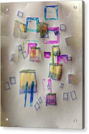Squares At School Acrylic Print by Robert M Cooper
