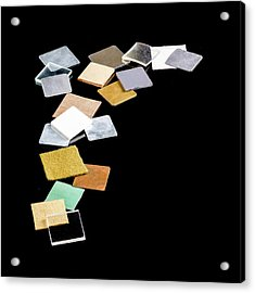 Squares Of Everyday Materials Acrylic Print by Science Photo Library