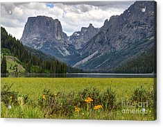 Squaretop Mountain And Upper Green River Lake  Acrylic Print