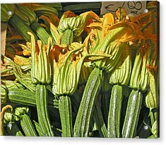 Squash Blossoms Acrylic Print by Jean Hall