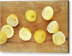 Squeezed Citrus Halves Acrylic Print