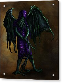 Squid Creature  Acrylic Print by Kerstin Carrion