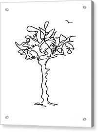 Squiggle Tree 1 Acrylic Print