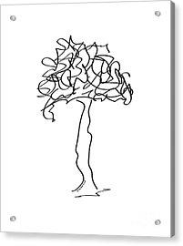 Squiggle Tree 2 Acrylic Print