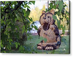 Squirrel Bird Feeder Acrylic Print